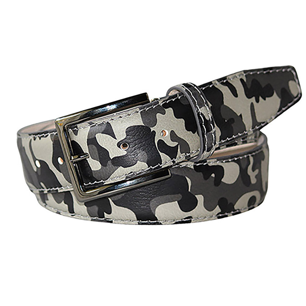 Camo Italian Pebble Grain Belt - [variant_title] | Mens Fashion & Leather Goods by Roger Ximenez