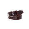 Maroon Vintage Misterioso Belt - 44 / 40mm / Red | Mens Fashion & Leather Goods by Roger Ximenez