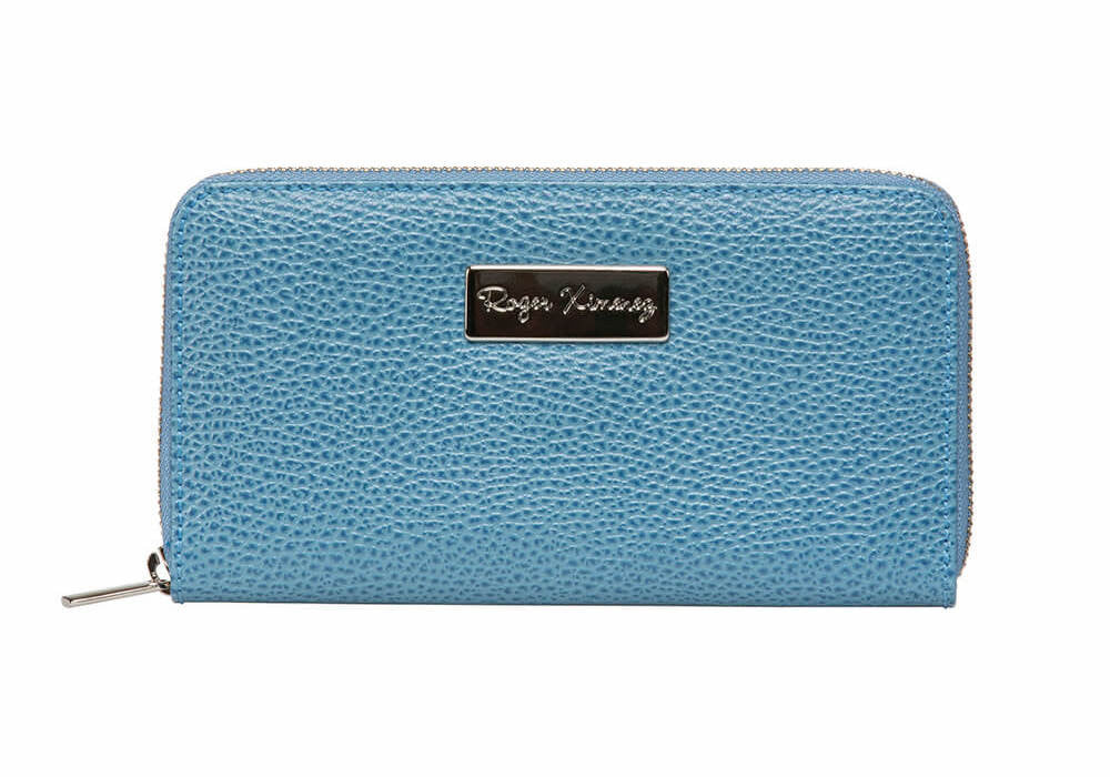 Cobalt Women's Leather Wallet - Light Blue / One Size / Cobalt | Mens Fashion & Leather Goods by Roger Ximenez