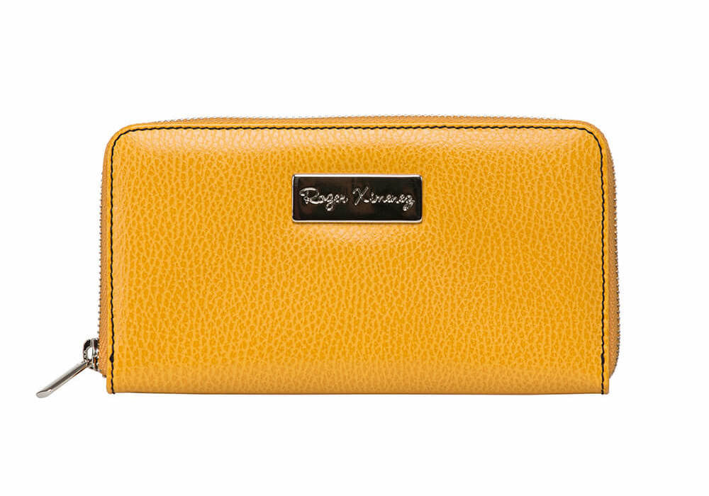 Yellow Women's Leather Wallet - RogerXimenez.com