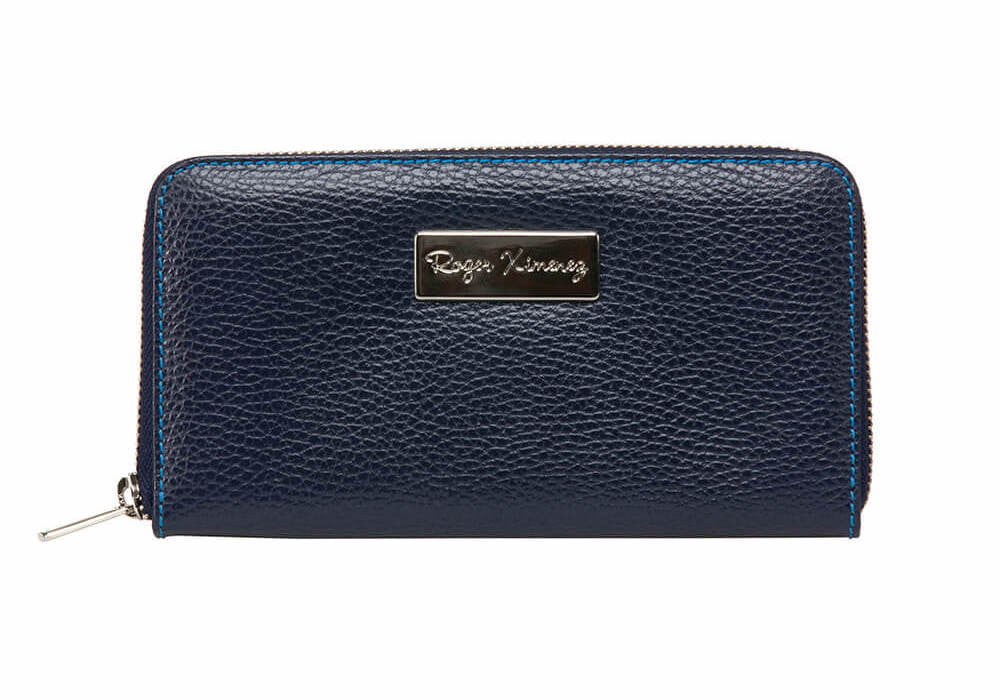Blue Jean Women's Leather Wallet - Cobalt / One Size / Blue | Mens Fashion & Leather Goods by Roger Ximenez