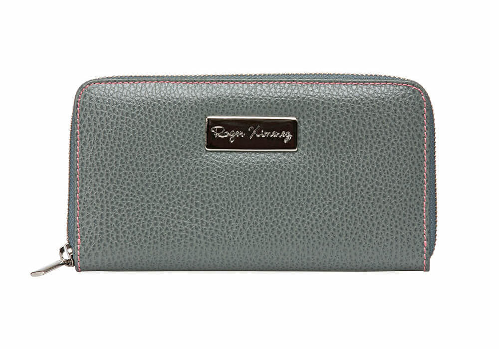 Gray Women's Leather Wallet - Pink / One Size / Gray | Mens Fashion & Leather Goods by Roger Ximenez