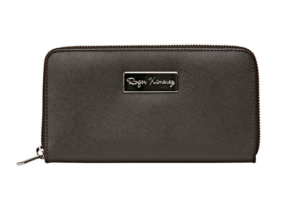 Brown Saffiano Women's Leather Wallet - Brown / One Size / Brown | Mens Fashion & Leather Goods by Roger Ximenez