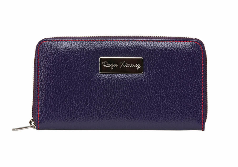 Purple Women's Leather Wallet - Red / One Size / Purple | Mens Fashion & Leather Goods by Roger Ximenez