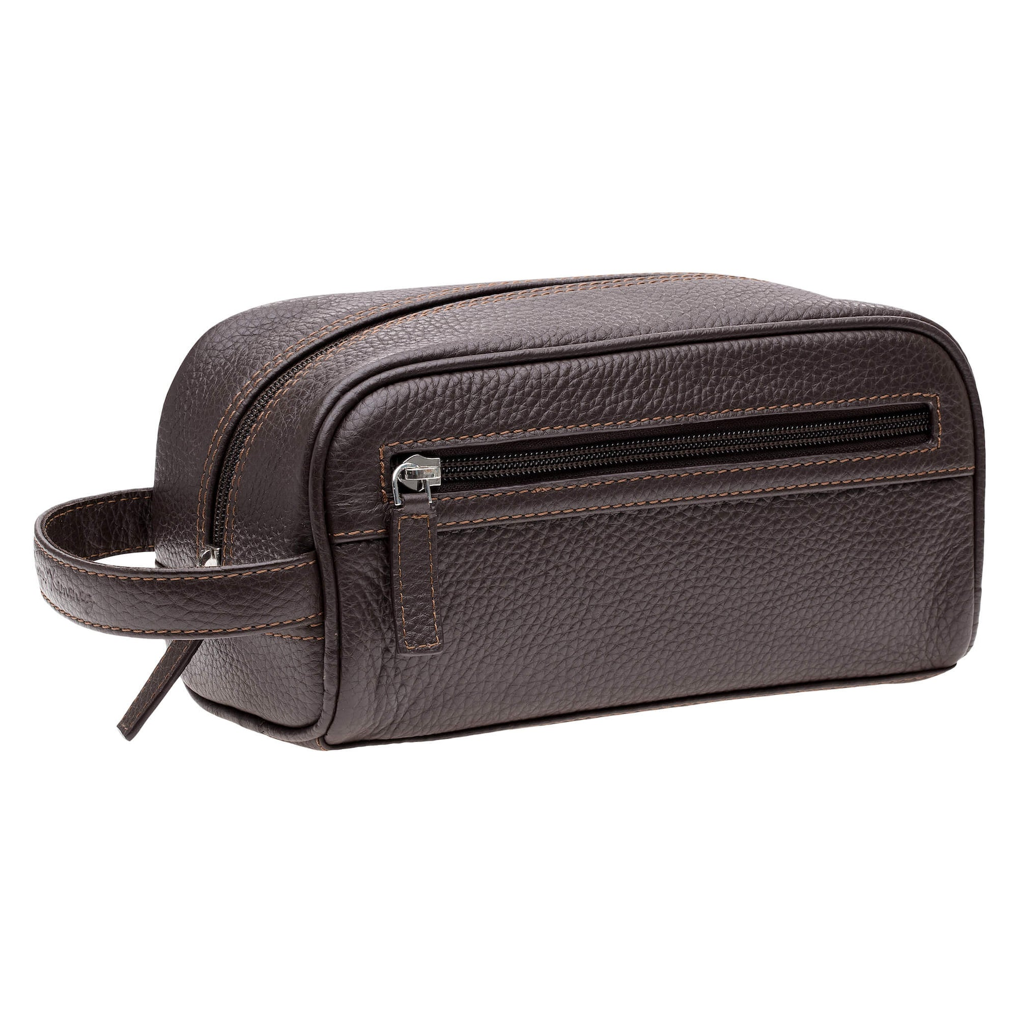 Brown Leather Toiletry Bag - Cognac | Mens Fashion & Leather Goods by Roger Ximenez