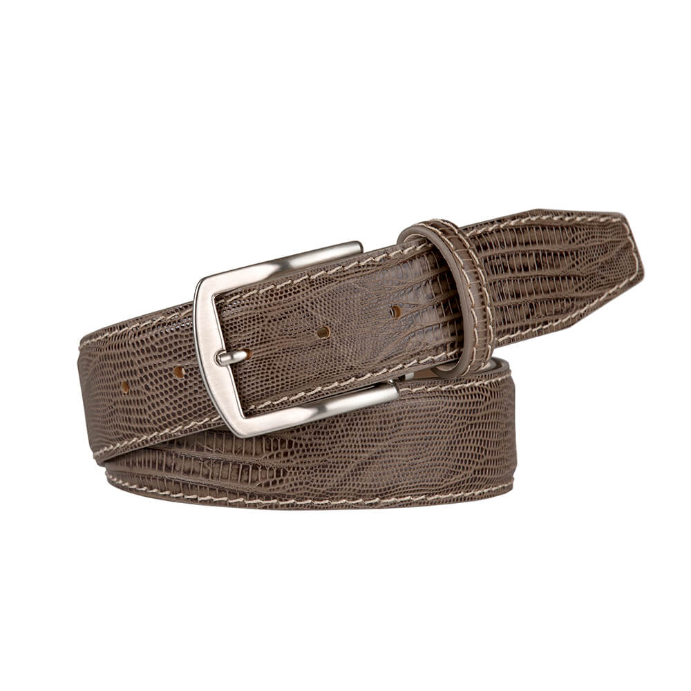 Stone Mock Lizard Belt - Men's Designer Belts - RogerXimenez.com