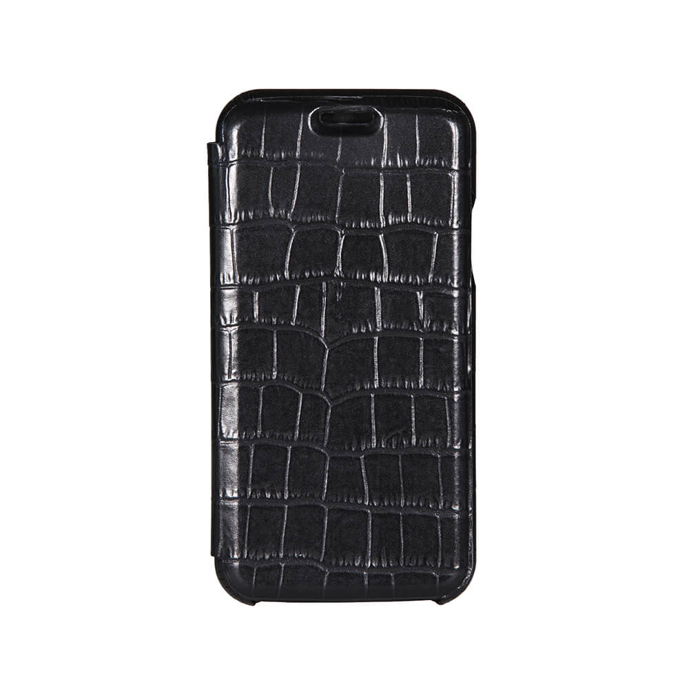 Black Mock Gator iPhone Xs Case - Men's Designer Belts - RogerXimenez.com