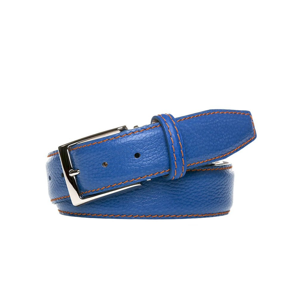 Gainesville Belt - Pebble Grain / 44 / Blue | Mens Fashion & Leather Goods by Roger Ximenez