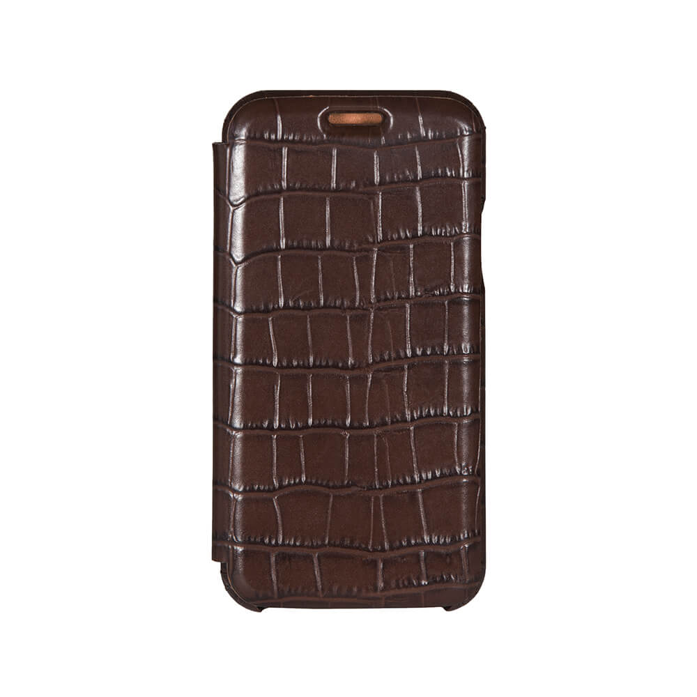 Brown Mock Gator iPhone Xs Max Case - Men's Designer Belts - RogerXimenez.com