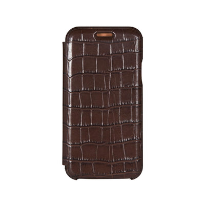 Brown Mock Gator iPhone Xs Case - Men's Designer Belts - RogerXimenez.com