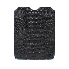 Black Mock Croc iPad Leather Sleeve