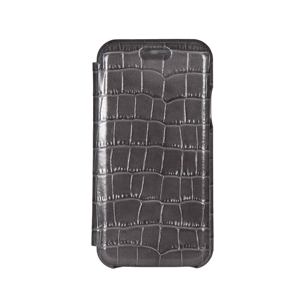 Gray Mock Gator iPhone Xs Max Case - Men's Designer Belts - RogerXimenez.com