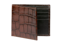 Chestnut Brown Mock Croc Leather Wallet