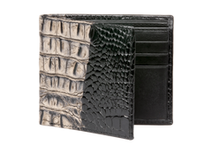Ecru Vintage Mock Croc Leather Wallet