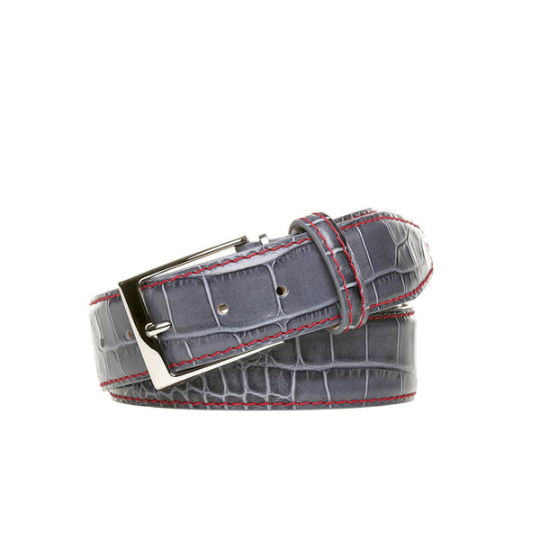 Special Edition Gray Mock Gator Leather Belt 1