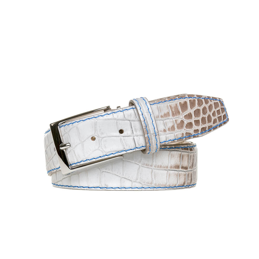 Special Edition Vintage Natural Mock Gator Leather Belt