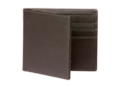 Brown Nappa Calf Leather Wallet