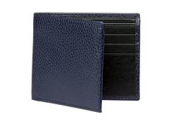 Navy Pebble Grain Leather Wallet