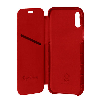 Red Mock Gator iPhone Xs Max Case - [variant_title] | Mens Fashion & Leather Goods by Roger Ximenez