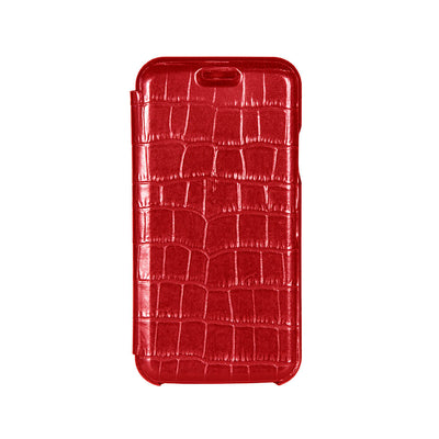 Red Mock Gator iPhone Xs Max Case - Men's Designer Belts - RogerXimenez.com