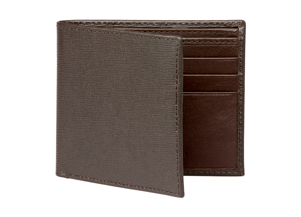 Brown Saffiano Leather Wallet - RogerXimenez.com