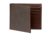 Brown Saffiano Leather Wallet - Red / One Size / Brown | Mens Fashion & Leather Goods by Roger Ximenez
