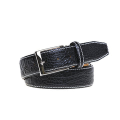 Black Mock Croc Leather Belt