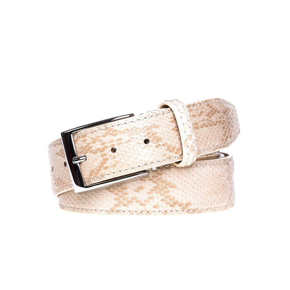 Desert Python Belt - [variant_title] | Mens Fashion & Leather Goods by Roger Ximenez