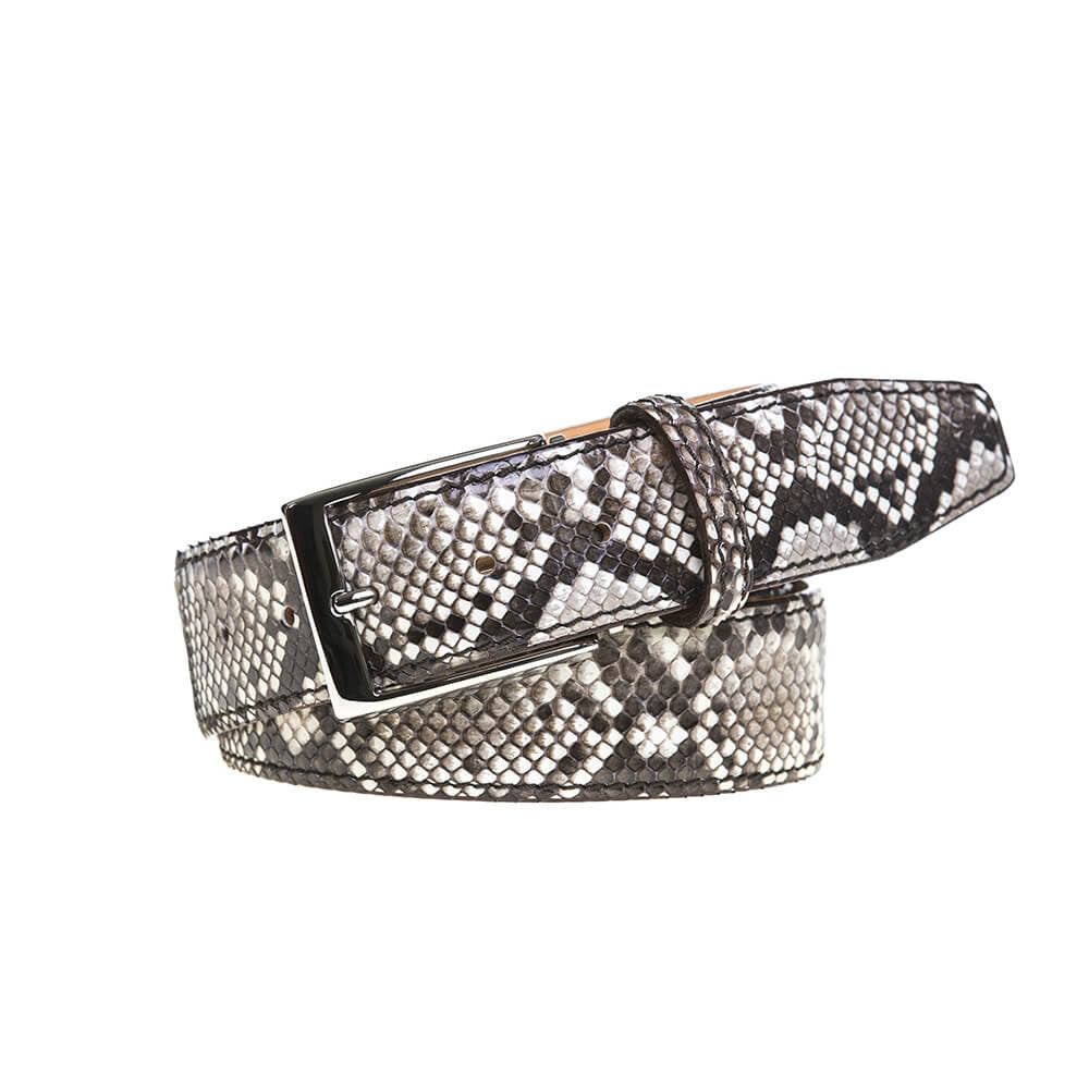 Natural Python Belt - Men's Designer Belts - RogerXimenez.com