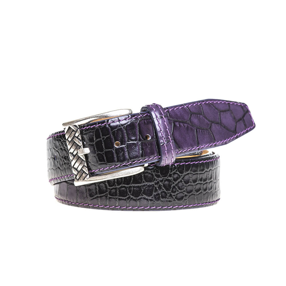 Purple Vintage Sunset Belt - [variant_title] | Mens Fashion & Leather Goods by Roger Ximenez