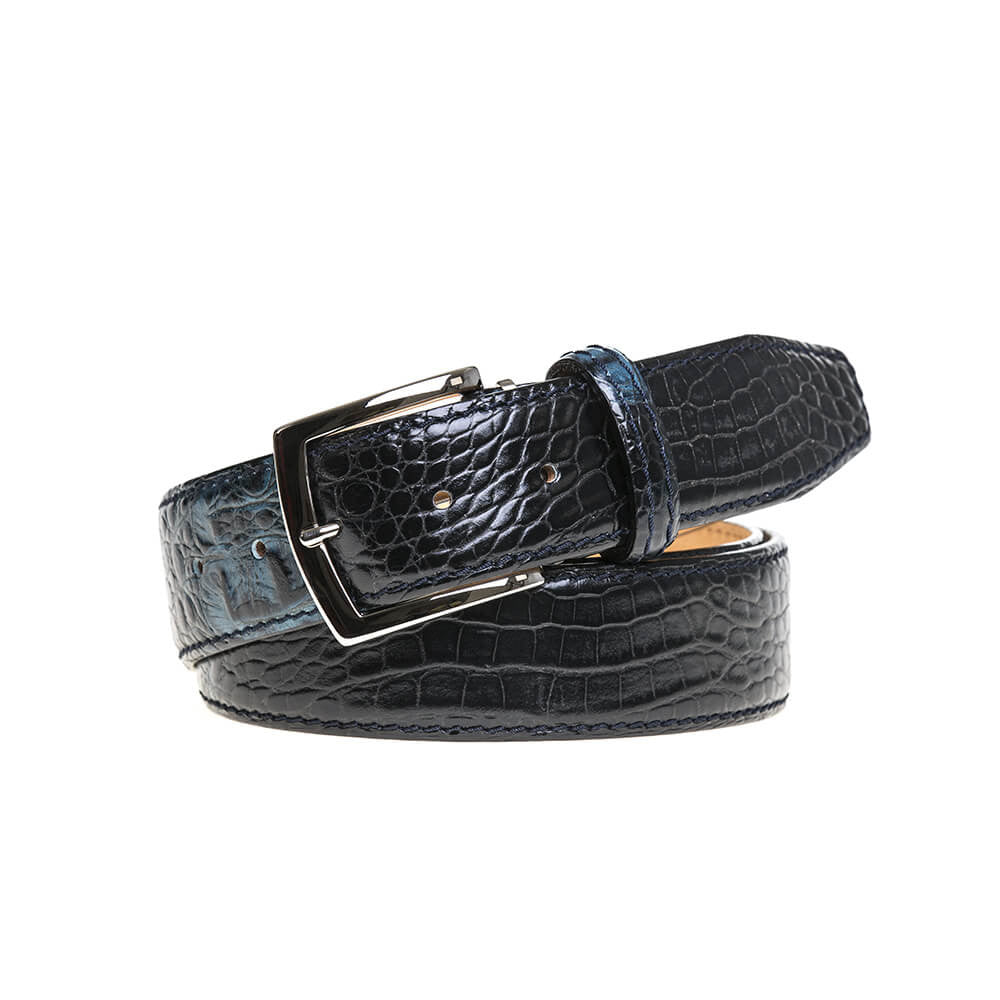 Blue Vintage Twice Belt - Men's Designer Belts - RogerXimenez.com