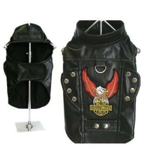 Born To Ride Motorcycle Harness Pet Jacket - Black