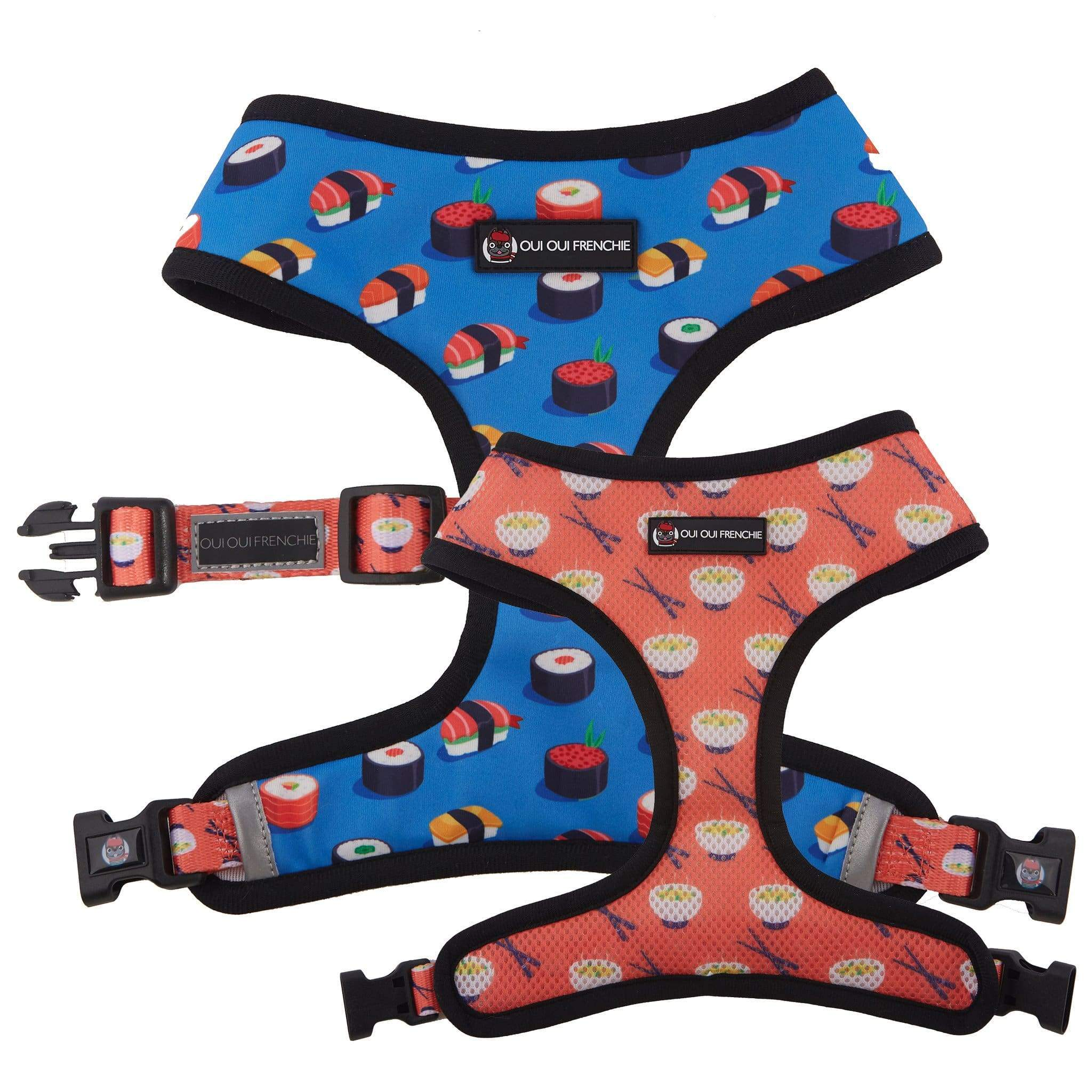 Oui Oui Frenchie Reversible Harness - Sushi