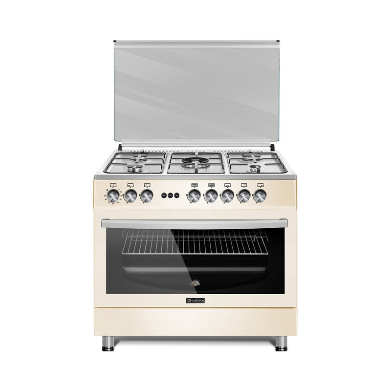 90x60 Free Standing Gas Cooker, Cream Design