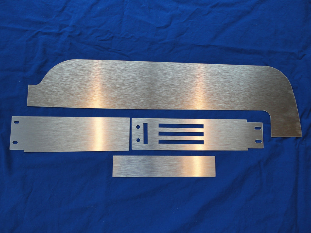 1967 Deluxe Brushed Aluminum Passenger Side Dash insert