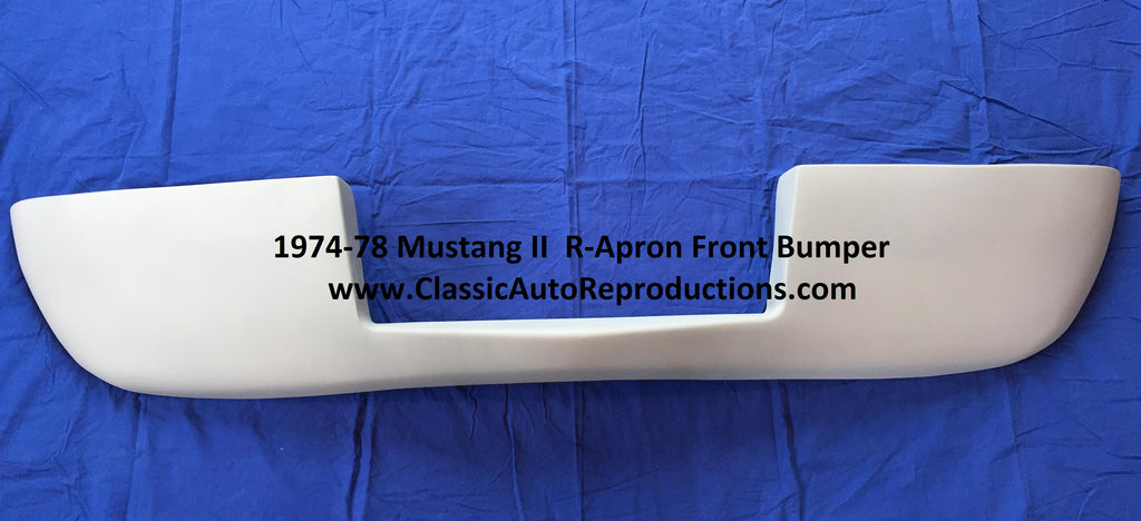 1974-1978 Mustang II R Apron Front Bumper