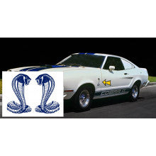 1975-77 Cobra II Fender Snake Decal Set