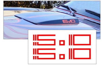 1978 King Cobra 5.0 Hood Scoop Decal Set