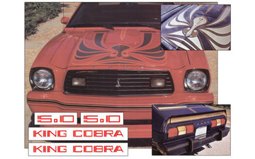 1978 King Cobra Hood Snake and Decal Kit