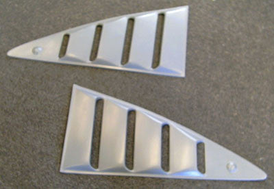 1974-1978  Mustang II QTR Window Louvers - Fiberglass