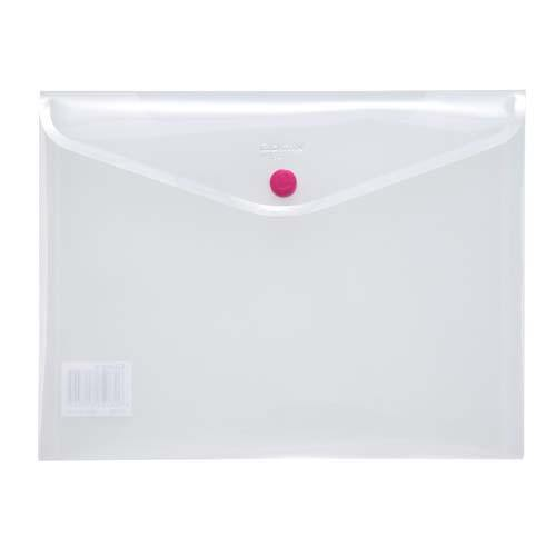 Button Envelope A5 Trsp Plastic - White