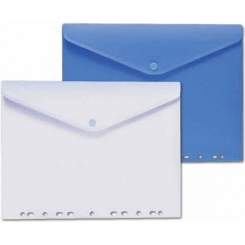 Plastic Envelope A4 Punched W/Button