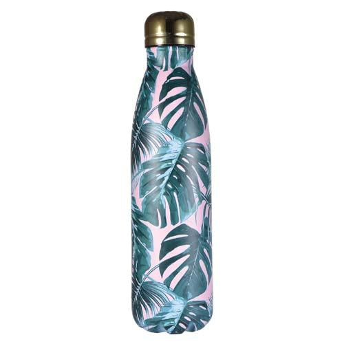 Funky Fish Thermo Bottle Pink Leaves