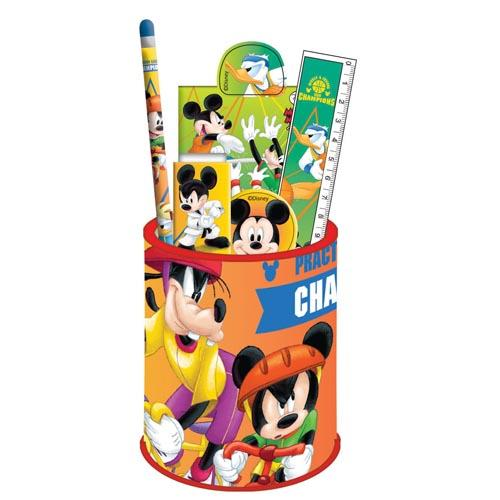 Mickey Stationery Set In Pencil Pot