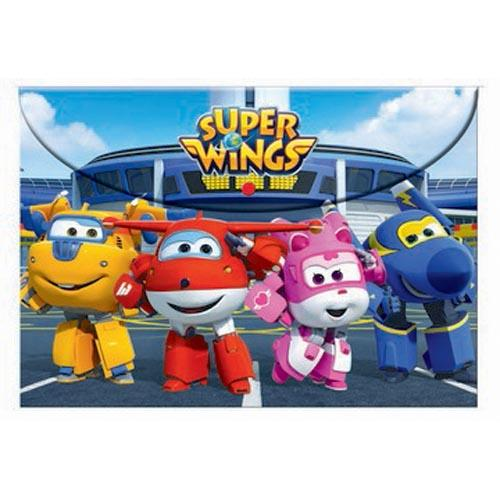 Super Wings Pp Folder W/Button A4