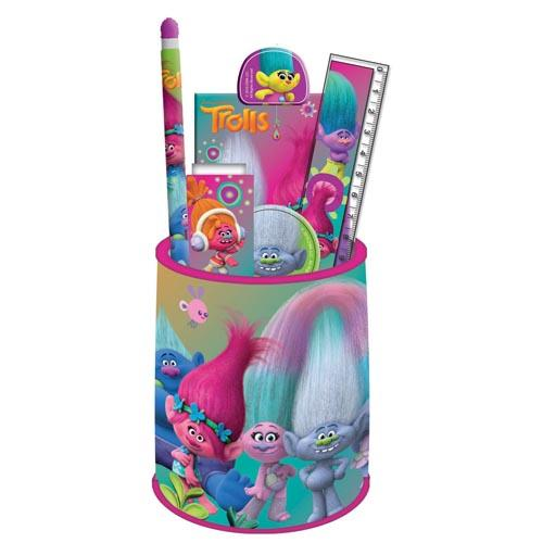 Trolls Stationery Set In Pencil Pot