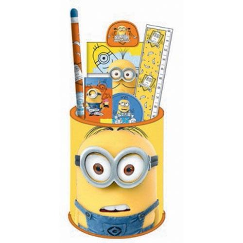Minions Stationery Set In Metal Pot