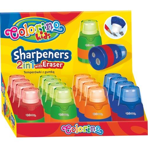 Sharpener With Eraser 2 In 1