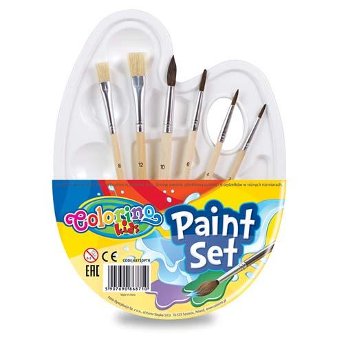 Paint Set - Palette With Brushes