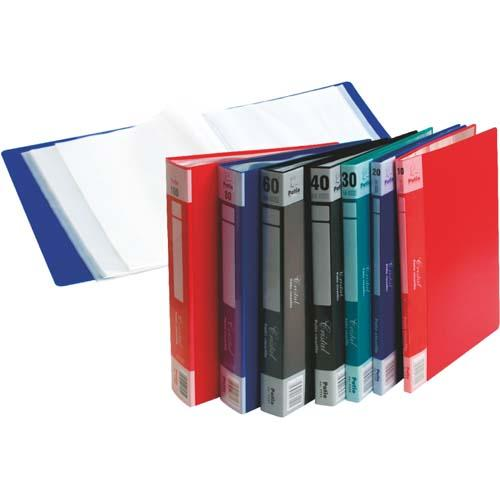 Display Book A4 X 20 Pockets Red